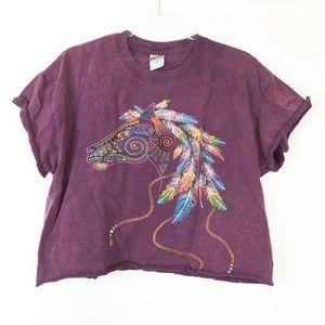 Cropped Grand Canyon Dream Catcher Horse Shirt | L